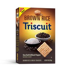 Triscuit Brown Rice Sea Salt & Black Pepper: Enjoy seasoned crackers without the hassle of heavy shakers.