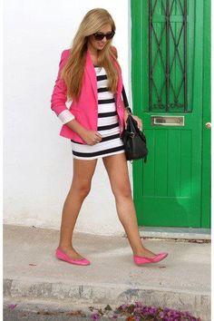 blazer. dress. flats. love this...
