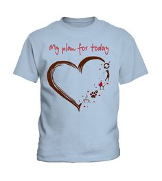 My plan for today - heart - Golf (Kid T-Shirt - Blue Sky) #celebrities #weddings #women golfing photography, golfing crafts, golfing swing, back to school, aesthetic wallpaper, y2k fashion