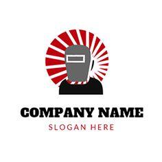 Gray Mask and Black Welding Engineer logo design Custom Logo Design, Custom Logos, Welding Logo, Online Logo, Logo Maker, Company Names, Engineer, Slogan, Finance
