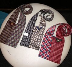 Upcycled men's neck tie purse.