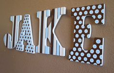 painted wooden letters for kids room