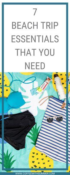 Beach Trip Essentials | Beach Bag | Summer & Rose | Upbra Bikini Top | Summer Essentials