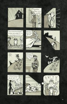 Gris Grimly's Frankenstein, or, The Modern Prometheus The bottom right panel of this kills me.