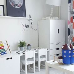 Ikea Shared Kids Room small but smart family home - via cocolapinedesign | kids room