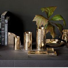 Brass vase fra Nordstjerne får en hver liten kvist til å se ut som et proffarrangement. Finnes i tre størrelser og koster fra 390,-