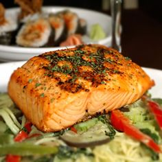 The best sources are wild-caught Alaskan salmon, canned sockeye salmon, sardines, herring and black cod. are nessesary for optimal physical and mental health. Research indicates that the fatty acids found in cold-water fish may help reduce symptoms of MS. Salmon Recipes, Fish Recipes, Seafood Recipes, Gourmet Recipes, Gourmet Foods, Healthy Cooking, Healthy Snacks, Healthy Eating, Healthy Recipes