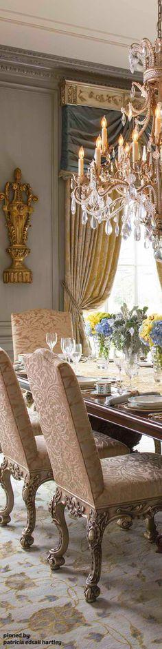 Mediterranean/Tuscan/Old World Decor French Interior, Best Interior, Luxury Interior, Interior And Exterior, Interior Design, Chandeliers, World Decor, European Home Decor, Elegant Dining