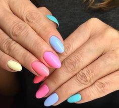 Miami Collection 2017 ⛱ by Natalia Niechwiej, Indigo Young Team #nails #nail #nailart #indigonails #miami #summernails #springnail #pastelnails #indigo #pinknail