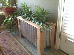 wood plank and tin planter box