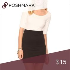 Classic Black Mini Bodycon Pencil Skirt• More photos coming soon! Size small. Classic Forever 21 black cotton blend skirt with waistband. Waist: approx 12 inches. Length: approx. 14 & 1/2 inches Forever 21 Skirts