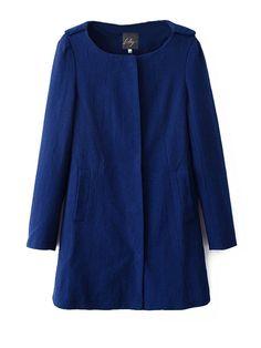 Western Style Round Collar Ladies Long Wind Coat