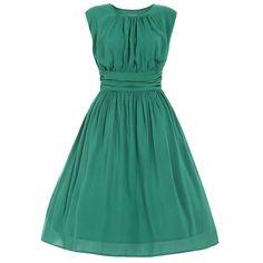 'Jocelyn' Jade Green Swing Dress