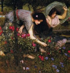 """Flora and the Zephyrs"" (1897) (detail) by John William Waterhouse (1849-1917)."