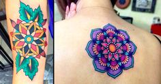 For those who prefer their mandala tattoos bright, poppy and colorful, this blog is a must-see! Beautiful mandala flower tattoos that lasts.