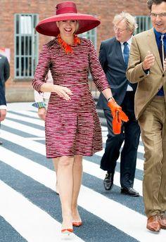 Queen Maxima of The Netherlands opens the Design Derby Netherlands - Belgium on June 19, 2015 in Rotterdam Netherlands.