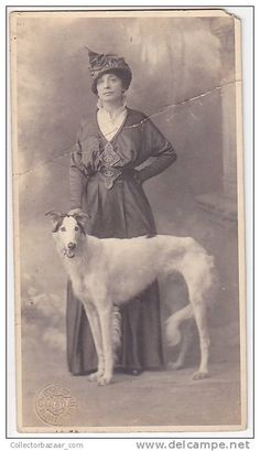 Women with her Barzoi