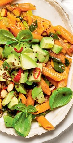 Linsen Nudeln aglio e olio mit Avocadosalat Pasta Aglio E Olio, Lentil Pasta, Avocado Salat, Good Food, Awesome Food, Clean Eating, Low Carb, Vegan Recipes, Food Porn