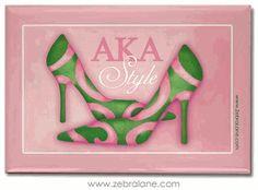 Alpha Kappa Alpha Style Magnet