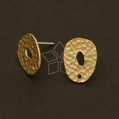 SI344MG / 4 Pcs  Moonrocks Earrings Matte Gold by beadsmaker, $5.50
