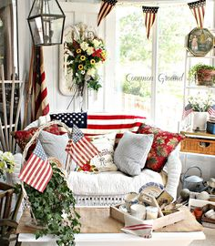Common Ground: Patriotic Sunporch and a little Serendipity...