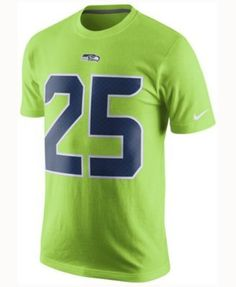 Nike Men's Richard Sherman Seattle Seahawks Color Rush Name & Number T-Shirt - Green XXL
