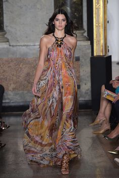Kendall Jenner wowed on the runway at the Pucci show during Milan Fashion Week on Saturday.