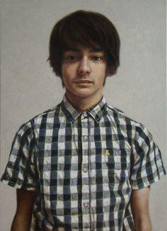 Daniel in Primark Shirt - Oil on Canvas - 2013