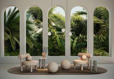 NOOM Celebrates 100 Years of the Bauhaus - Design Milk Architecture Design, Modern Architecture House, Futuristic Architecture, Modern Houses, Design Bauhaus, Deco Restaurant, Bauhaus Restaurant, Low Chair, Minimalist Design