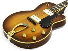 1957 GUILD ARISTOCRAT M75 BLUESBIRD VINTAGE SEMI-HOLLOW ELECTRIC GUITAR w/ P-90s Vintage Electric Guitars, Vintage Guitars, Acoustic Music, Music Guitar, Guild Guitars, Guitar Pins, Rockn Roll, Jazz, Blues