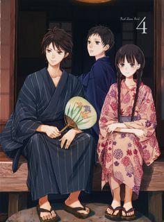 anime series RDG Red Data Girl kimono girl boys wallpaper background