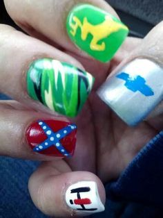 country nails... the chevy should be a ford lol