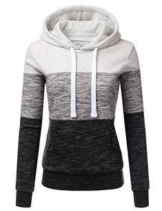 8e12c90ac NINEXIS Womens Long Sleeve Fleece Pullover Hoodie Sweatshirts Oatmeal M