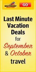 Book a Last Minute Vacation Package at select hotels, and receive reduced rates, one night free, and much more.  Book today!