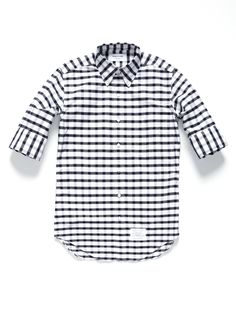 THOM BROWNE  Gingham With Overcheck Shirt $290