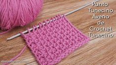 Punto Tunecino Avena de Crochet Tunecino Paso a Paso Crochet Cord, Single Crochet Stitch, Tunisian Crochet, Double Crochet, Crochet Stitches, Crochet Hooks, How To Start Knitting, Learn To Crochet, Sewing Patterns