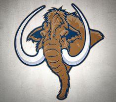 mammoth basketball - Google Search Fantasy Football Logos, Fantasy Football Funny, American Logo, Go Logo, Elephant Logo, Mundo Comic, Fruit Painting, Prehistoric Animals, Pictures To Draw