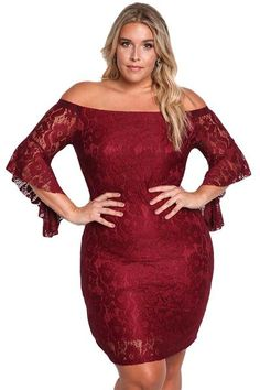 Lace looks perfect.Wholesale Plus Size Off Shoulder Lace Bodycon Dress is elegant and sexy to give you a gorgeous look in public. Plus Size Bodycon Dresses, Plus Size Party Dresses, Plus Size Dresses, Sexy Dresses, Plus Size Outfits, Tunic Dresses, Dress Tops, Ivory Dresses, Beach Dresses