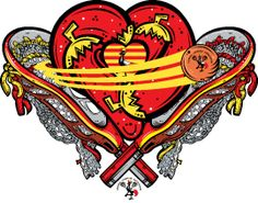 CHD AWARENESS - Chili Pepper Heart Studio t-shirt designs to support health, sport and education charities. Uganda Lacrosse