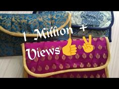 DIY Designer bag at home, partywear purse, कपडे के टुकडो से पर्स , diy c. Embroidery Bags, Hand Embroidery Patterns, Clutch Dior, Bag Patterns To Sew, Sewing Patterns, Diy Pouch No Zipper, Sewing Collars, Diy Purse, Fabric Bags