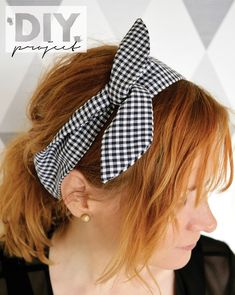 What a cute and fun project. Would be cute in so many colors and patterns. #sewing #hair #diy