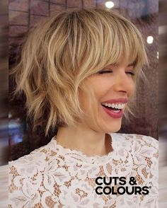 Nonchy Look with Bangs | CUTS & COLOURS