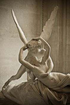 Psyche Revived by Cupid's Kiss- statue in the Louvre, Paris