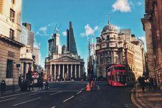 Bank Junction in London, UK