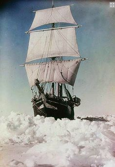 Antarctica 1915 - Photograph of the Endurance by Frank Hurley