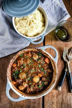 One-Pot Beef Stifado Stew - a traditional Greek recipe that's full of aromatic spices and intense flavor