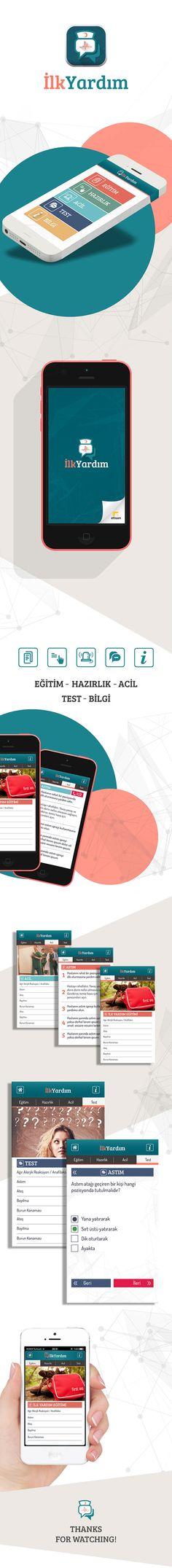 İlk Yardım Mobil Uygulama on Behance