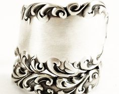 Antique Spoon Ring Victorian Ring Sterling Silver by Spoonier