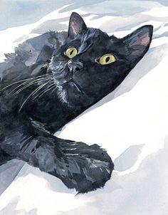 Custom Cat Portrait 8x10 pet watercolor