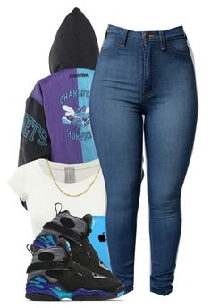 """Aqua 8s"" by polyvoreitems5 ❤ liked on Polyvore featuring NIKE"